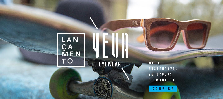 Yeva - oculos de madeira de skate