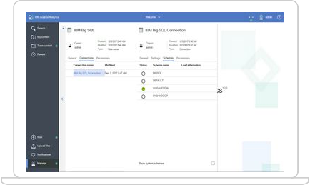 IBM Cognos Analytics on Cloud screenshot