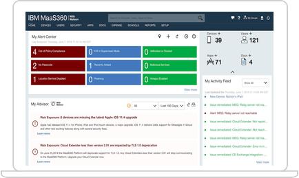 IBM MaaS360 with Watson screenshot