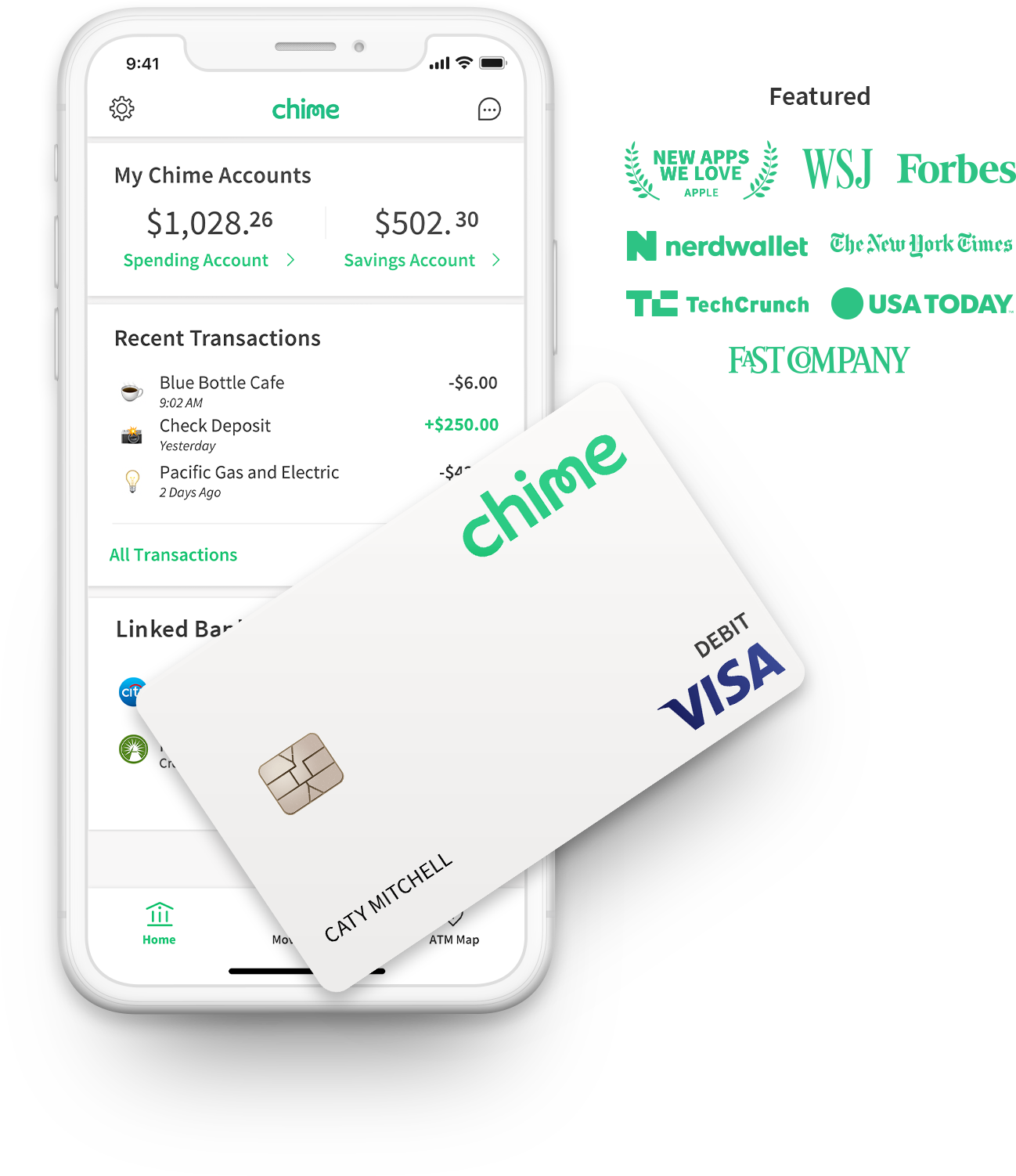 chime banking - no hidden fees. grow your savings automatically.